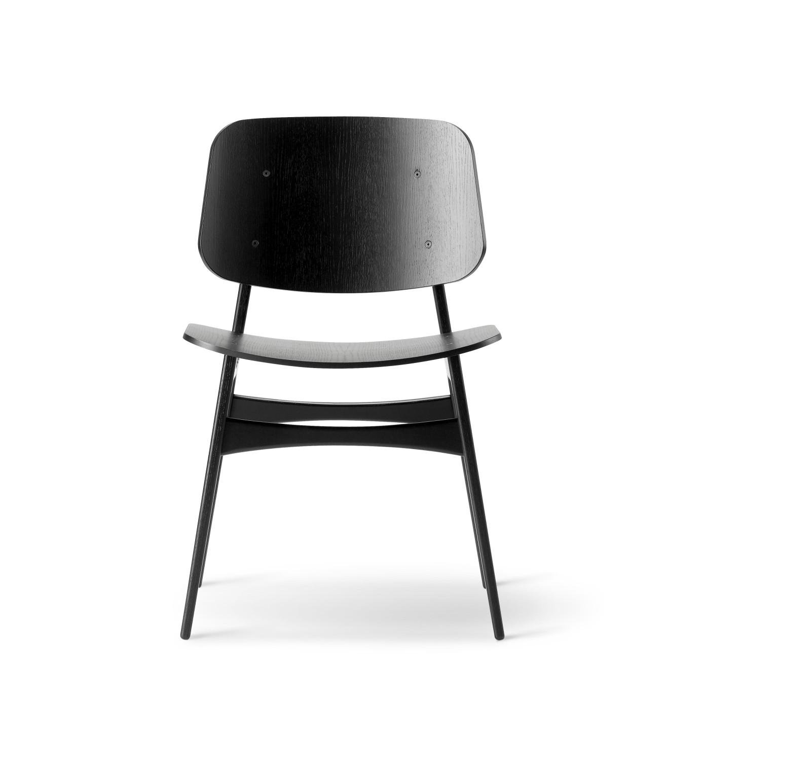 Soborg chair, wooden frame Oak black lacquered