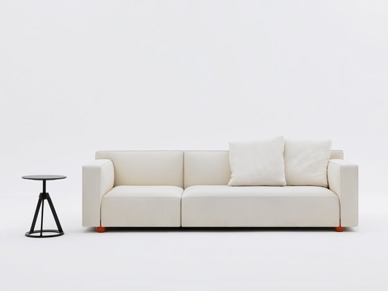 2 - seater Compact Sofa by Edward Barber & Jay Osgerby Sofa - 63.5H x 164W x 86D West White 01WE fab