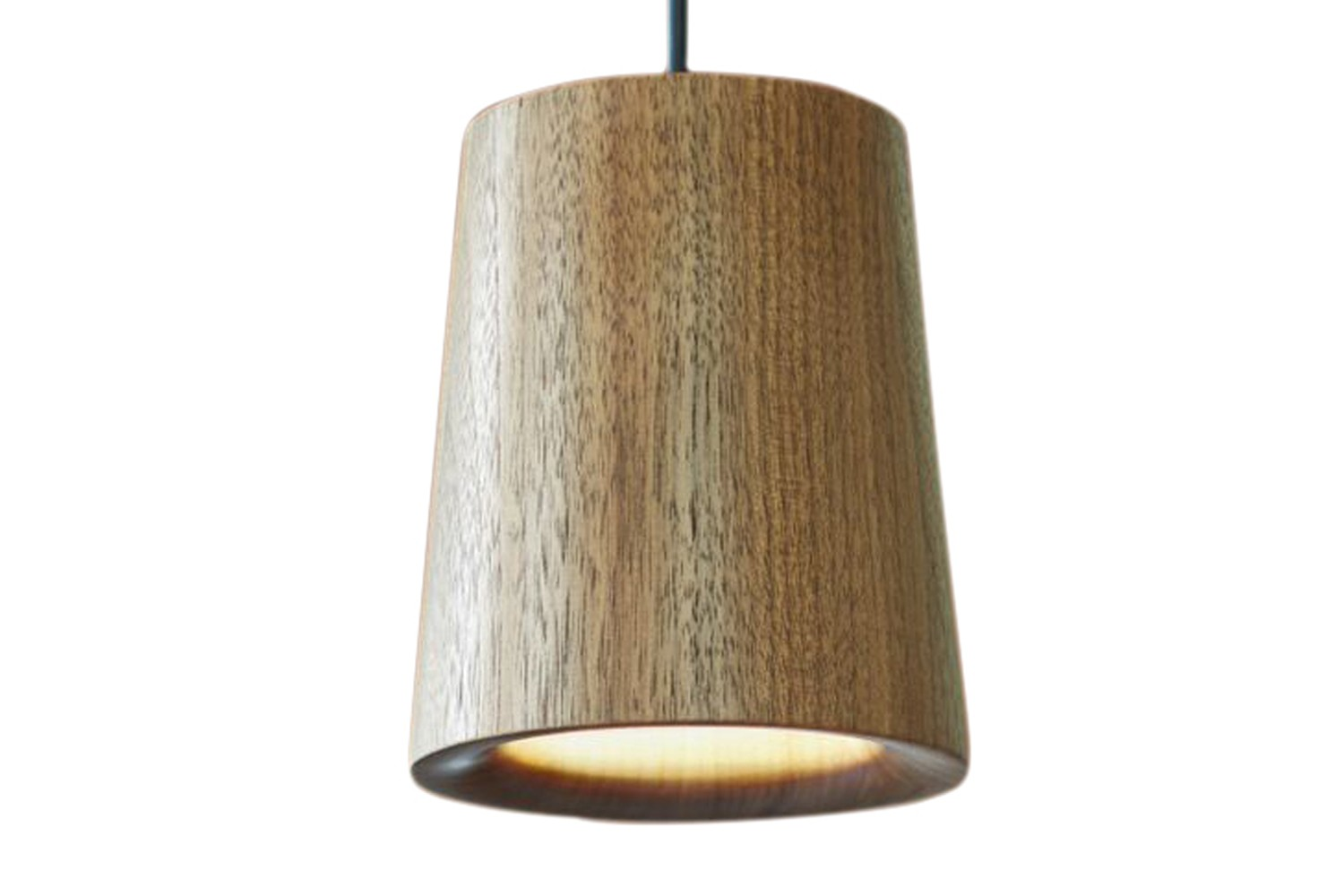 Solid Cone Pendant Light Walnut