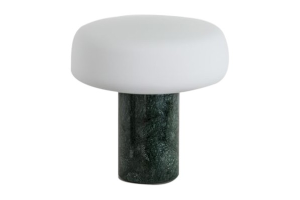 Solid Table Lamp Small, Serpentine Green Marble