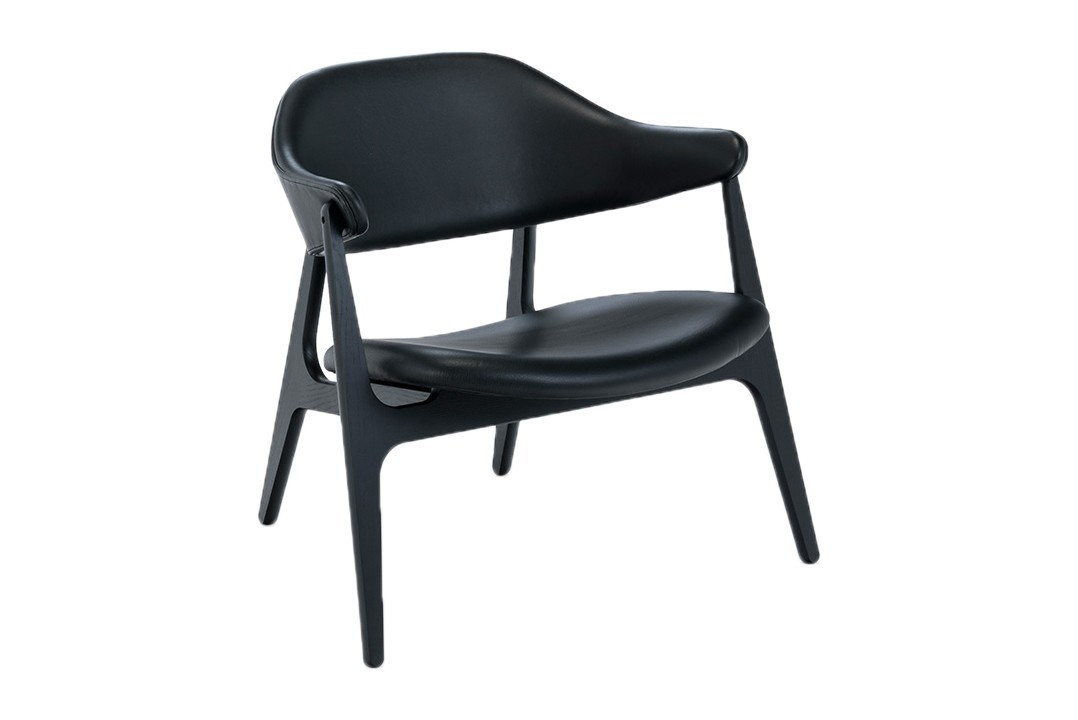 Spän Lounge Chair Black, Black ash