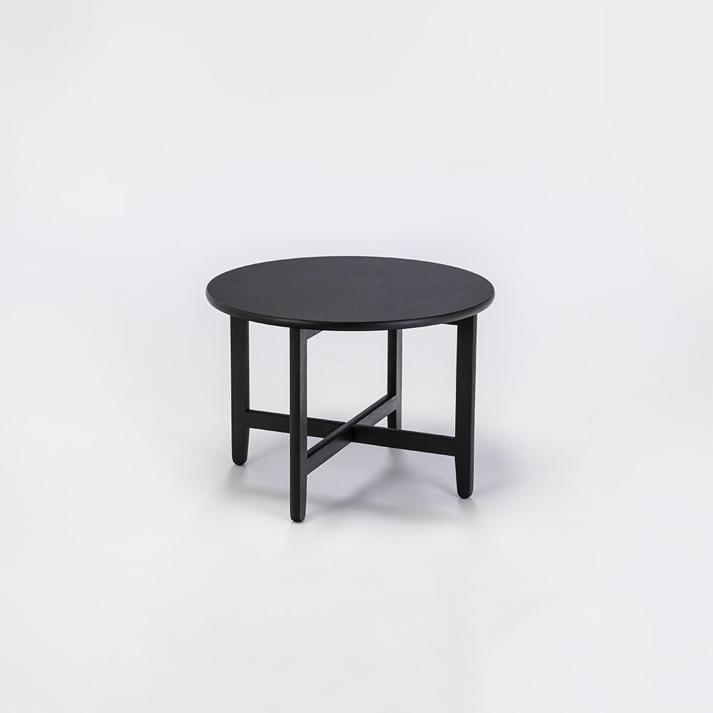 """SPÃ""""N Lounge Table Black Stained Solid Oak, 60cm"""