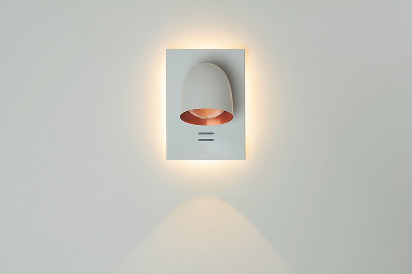 Speers Wall Light 2L, White Brass