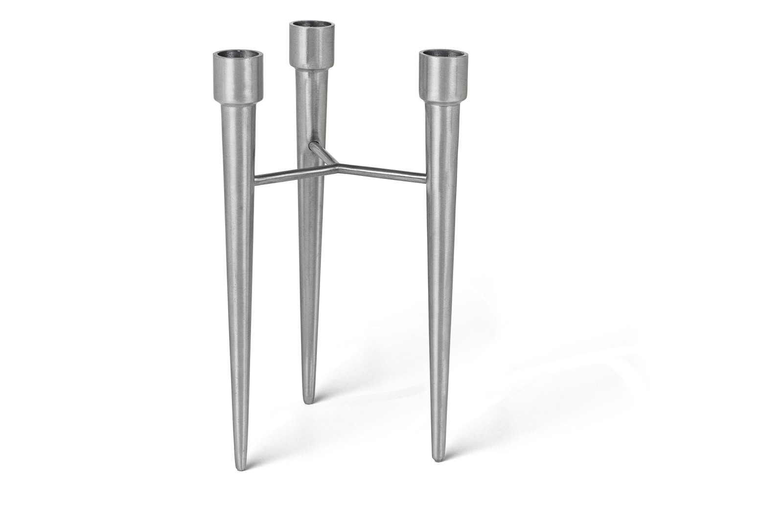 Spike Candle Holder Matt Aluminium