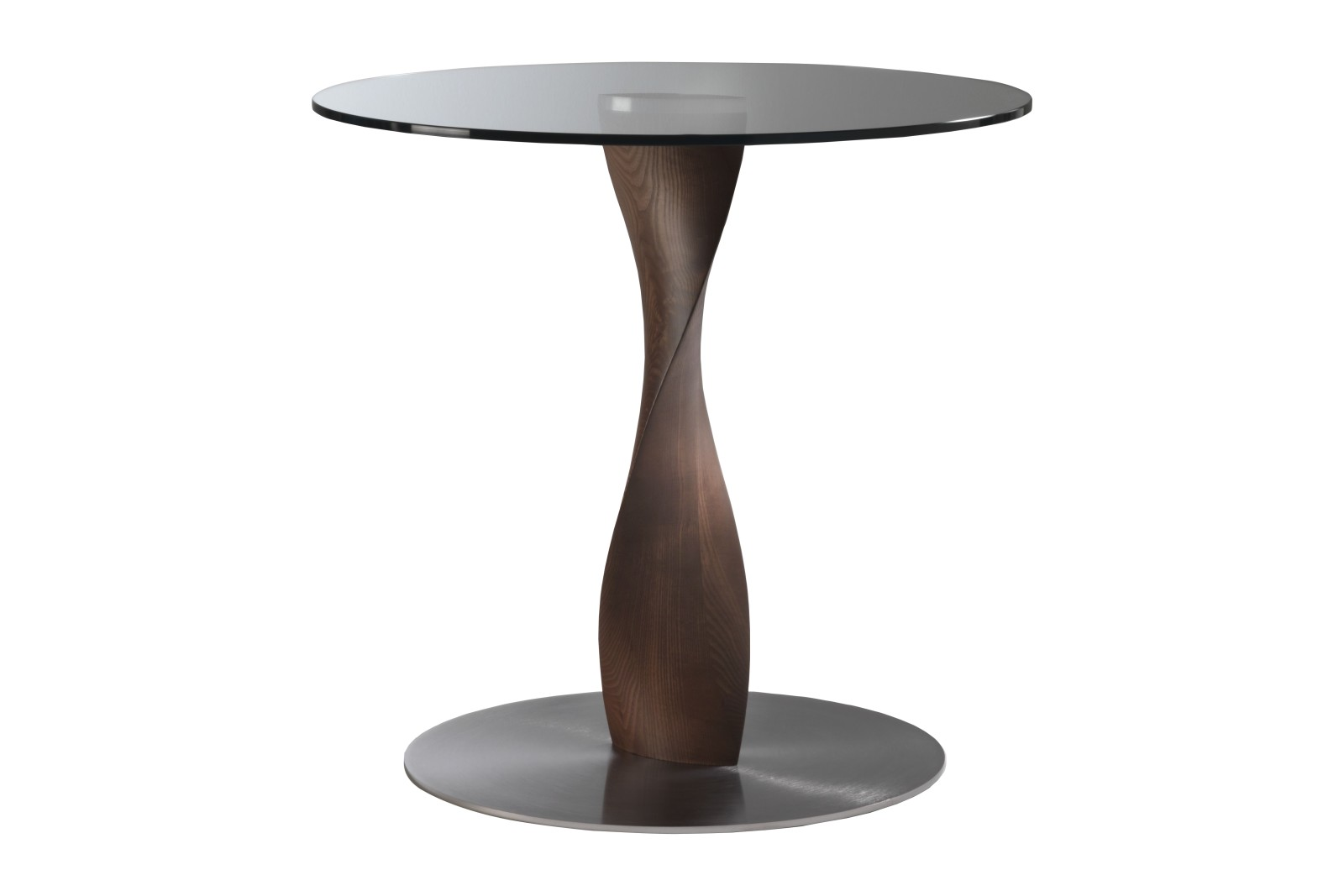 Spin Dining Table Ash Moka Stained, 100cm