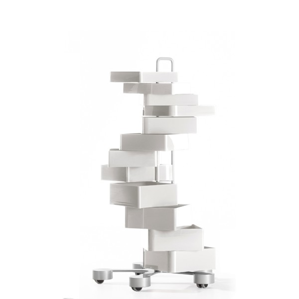 Spinny Drawer White, Swivel Casters