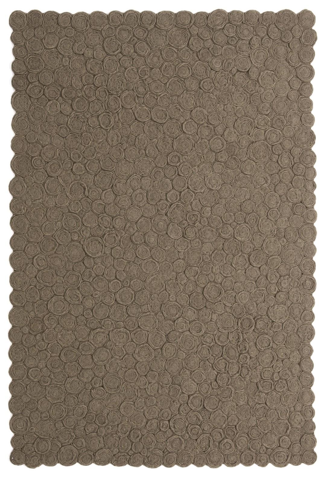 Spiral Rug Brown, 170 x 240 cm