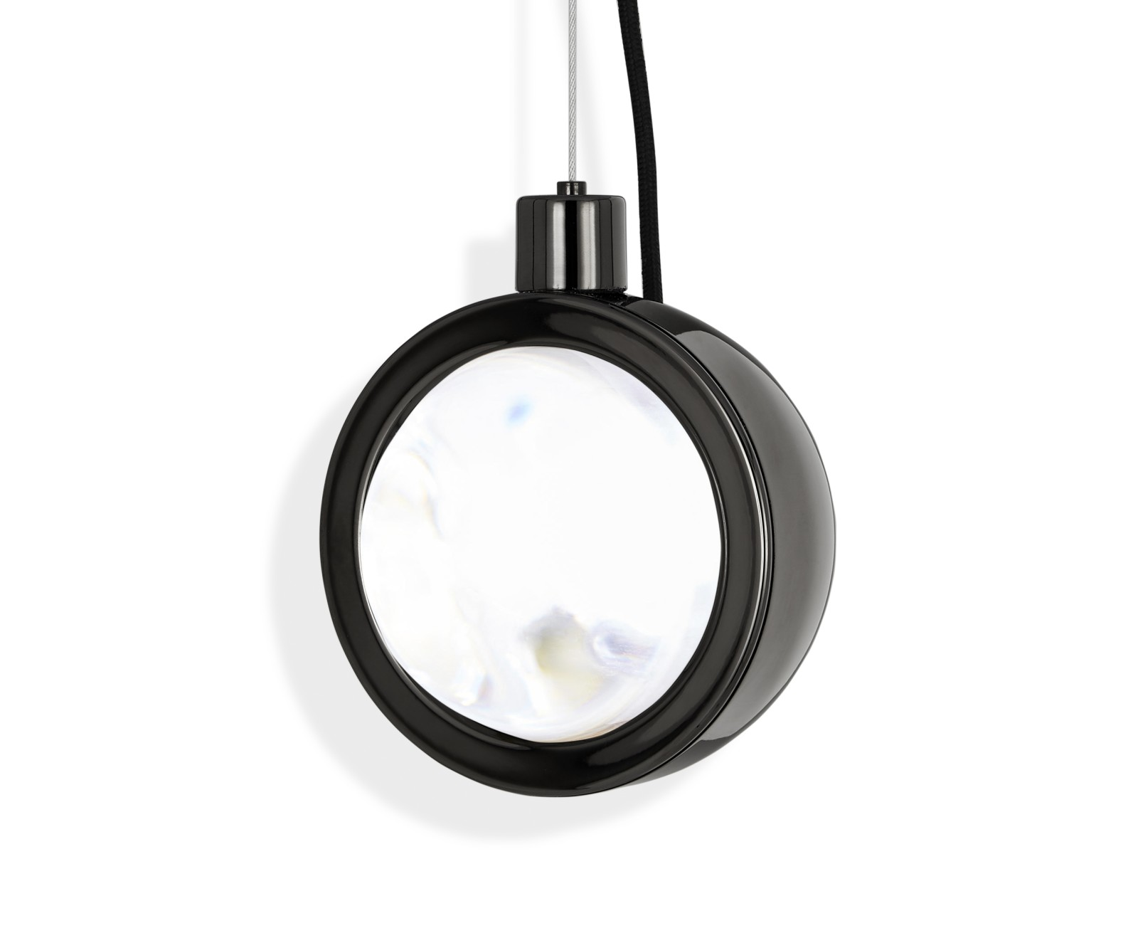 Spot Round Pendant Light Black