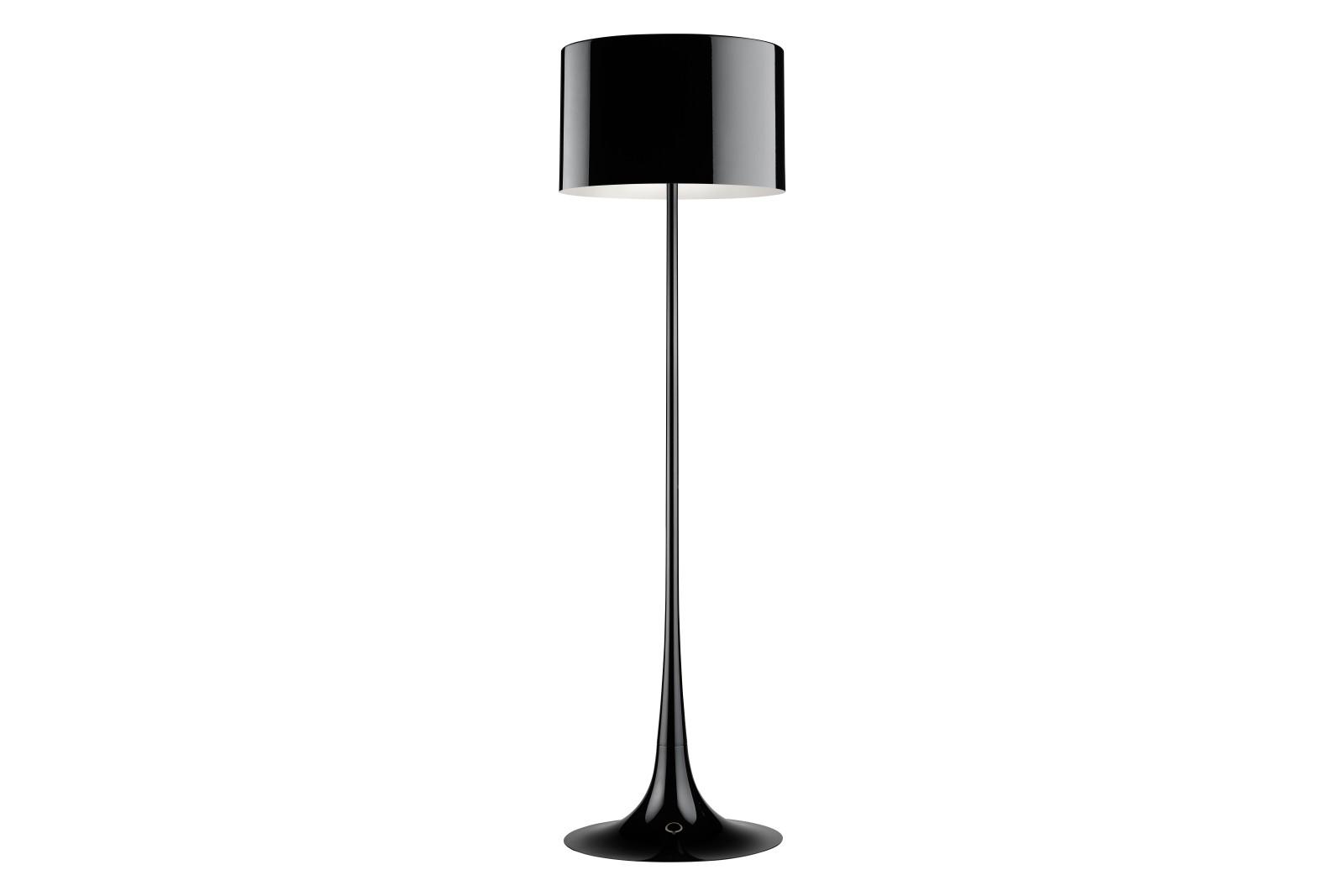 Spun Light F Floor Light Shiny Black, Eco