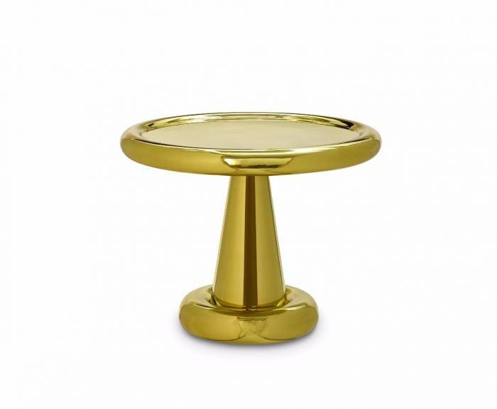 Spun Low Table Brass