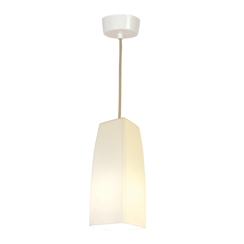 Square Pendant Light White Gloss