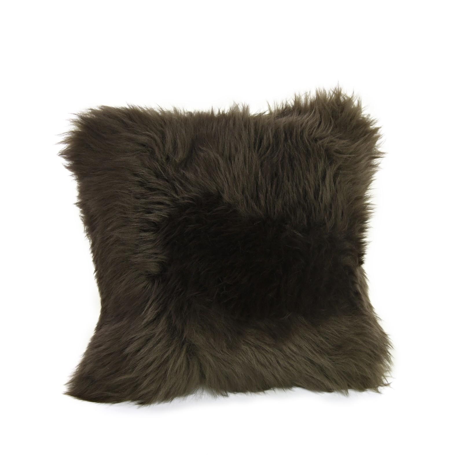 Square Sheepskin Cushion in Mink