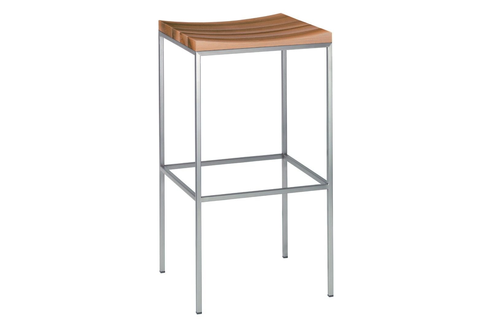 ST07 Grace Stool Oiled Walnut, Stainless Steel, High