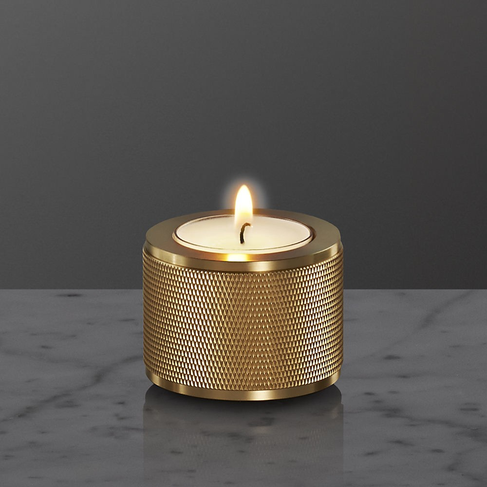 Stacked Candle Holder 1.0 Brass, Medium