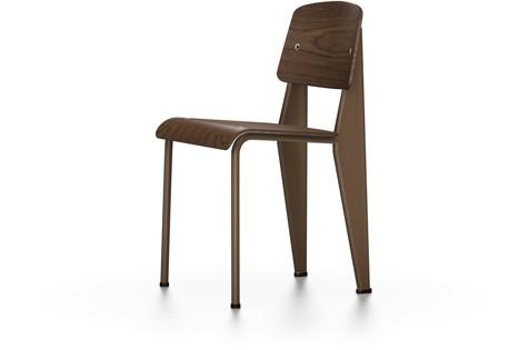 Standard Chair 45 walnut black pigmented, 04 glides for carpet, 88 Ecru powder-coated
