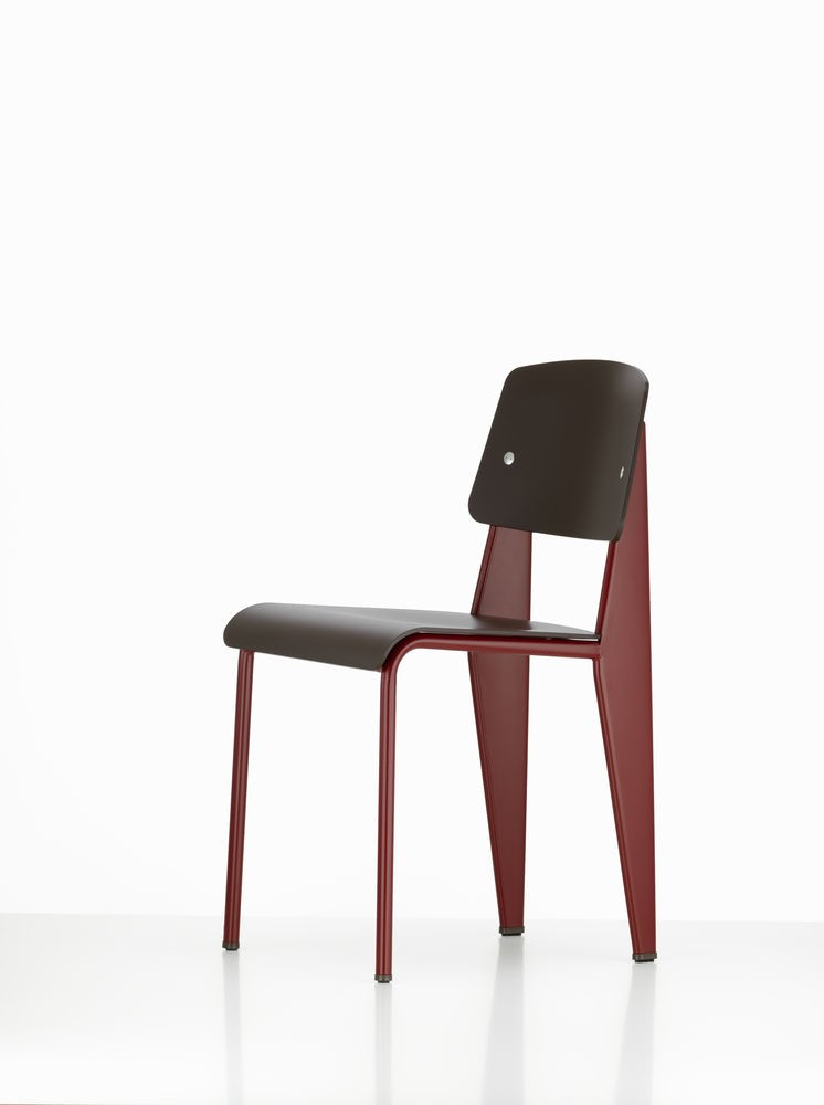 Standard SP Chair 12 deep black, 04 glides for carpet, 06 Japanese Red powder-coated