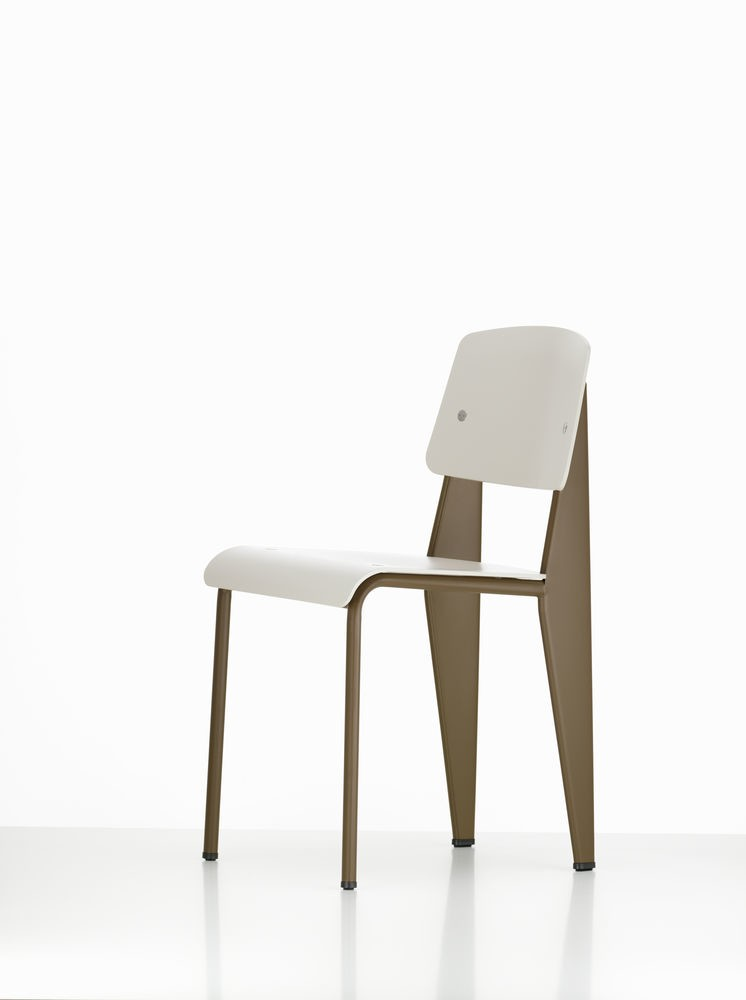 Standard SP Chair 31 warm grey, 04 glides for carpet, 80 Coffee powder-coated