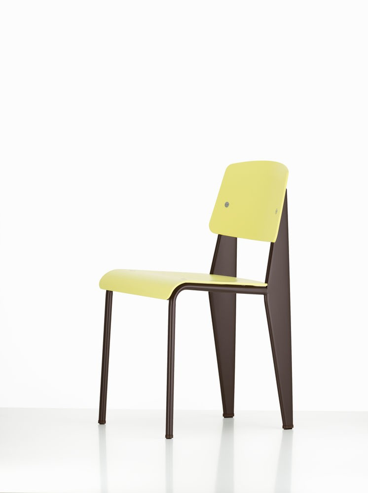 Standard SP Chair 92 citron, 04 glides for carpet, 40 Chocolate powder-coated