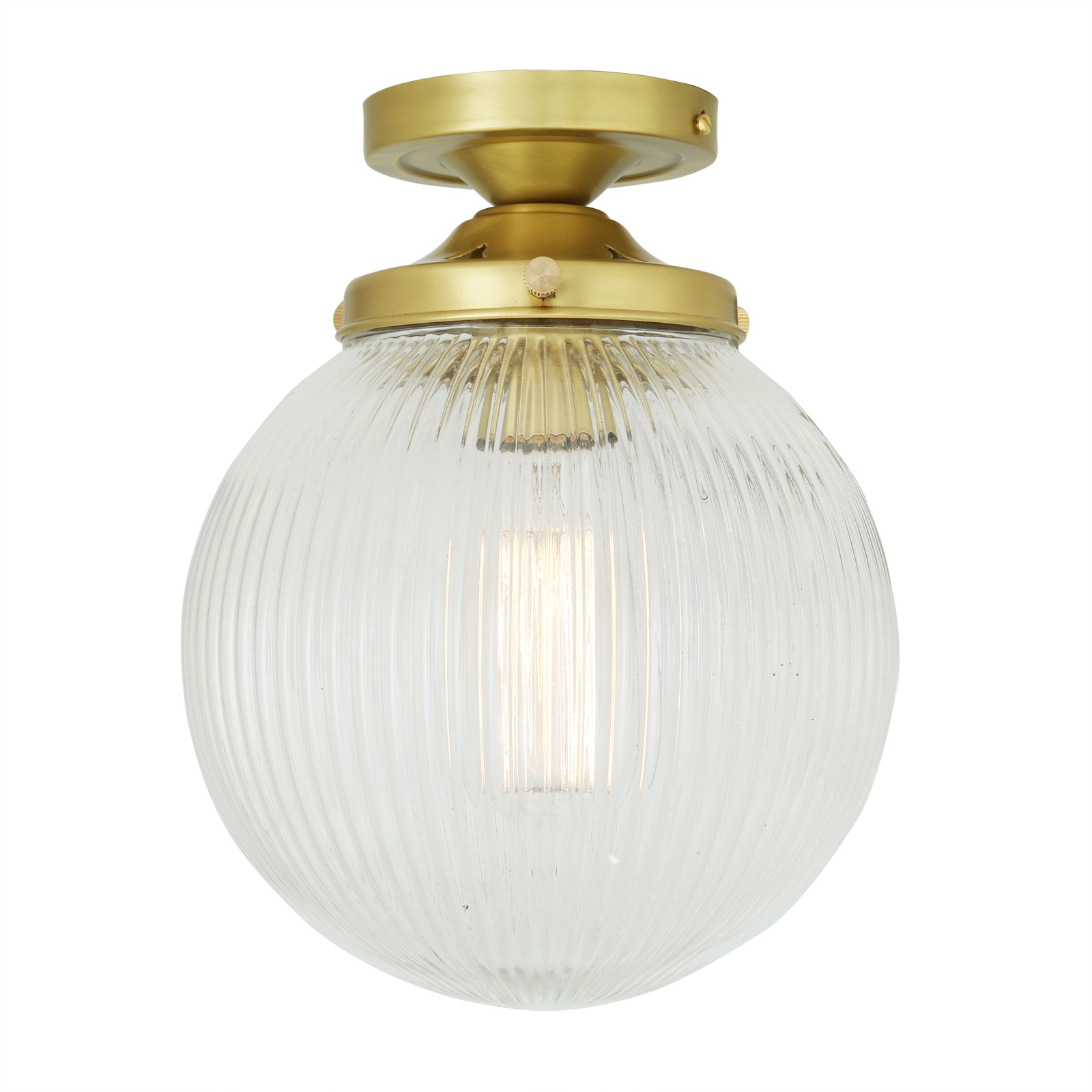 Stanley Ceiling Light Satin Brass