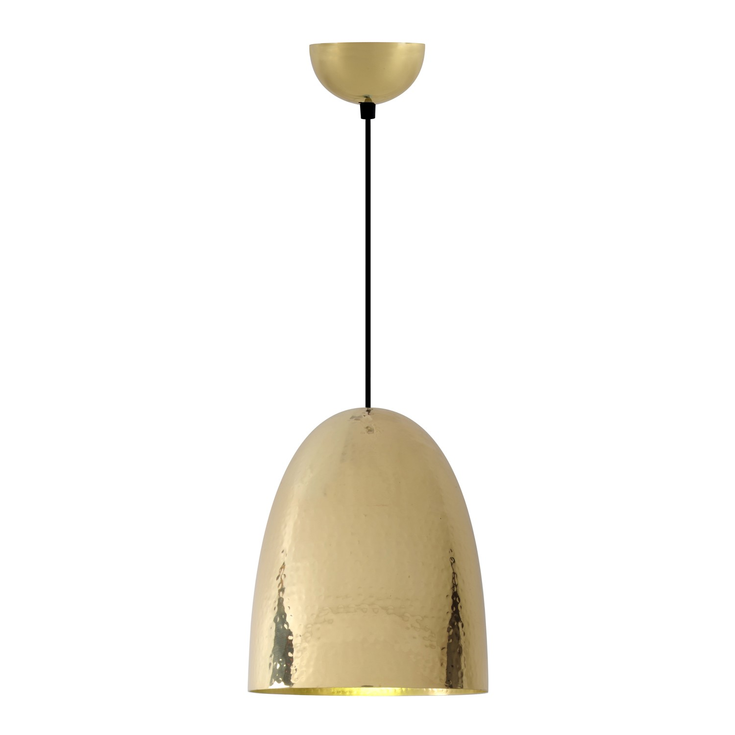 Stanley Pendant Light Hammered Brass, Large