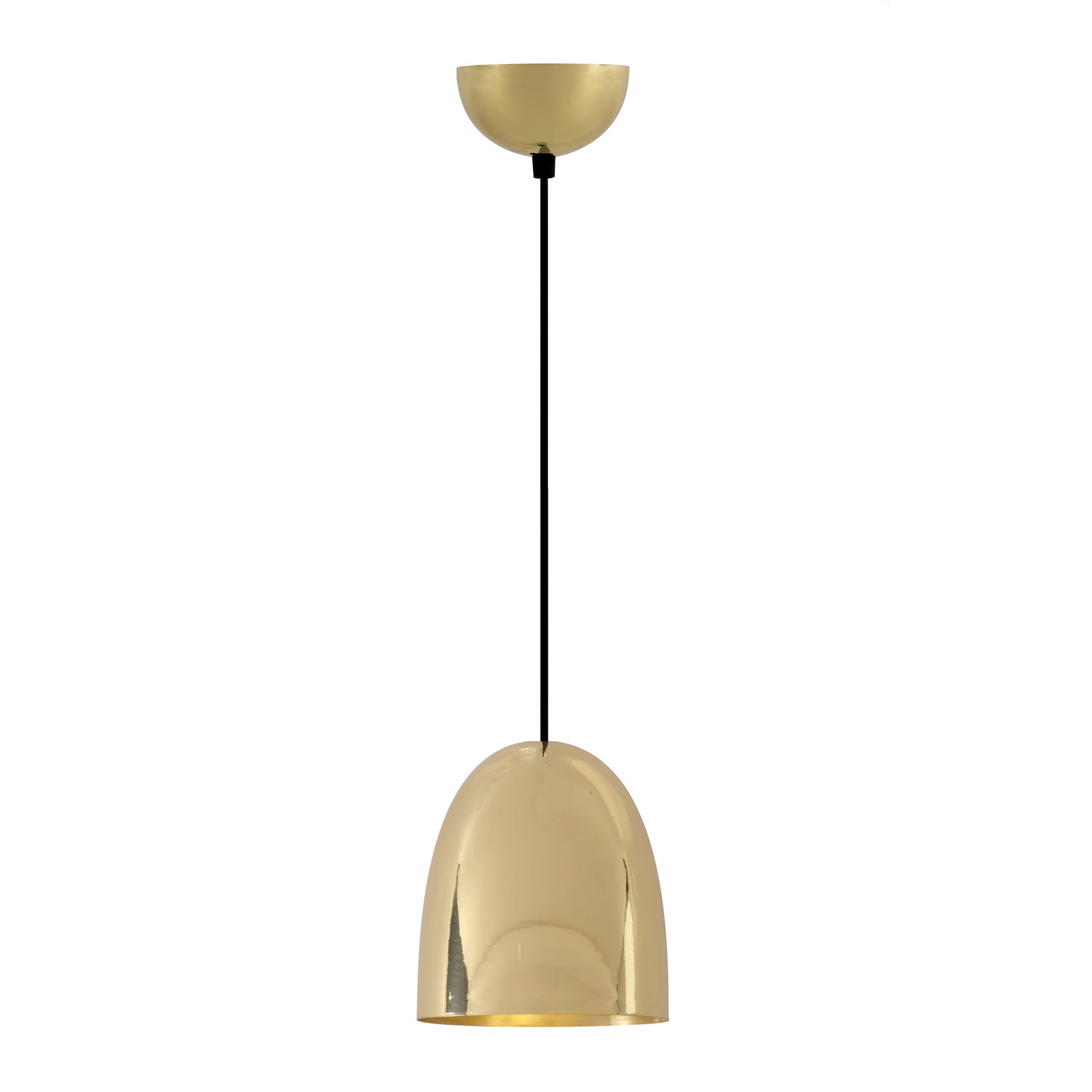 Stanley Pendant Light Polished Brass, Small