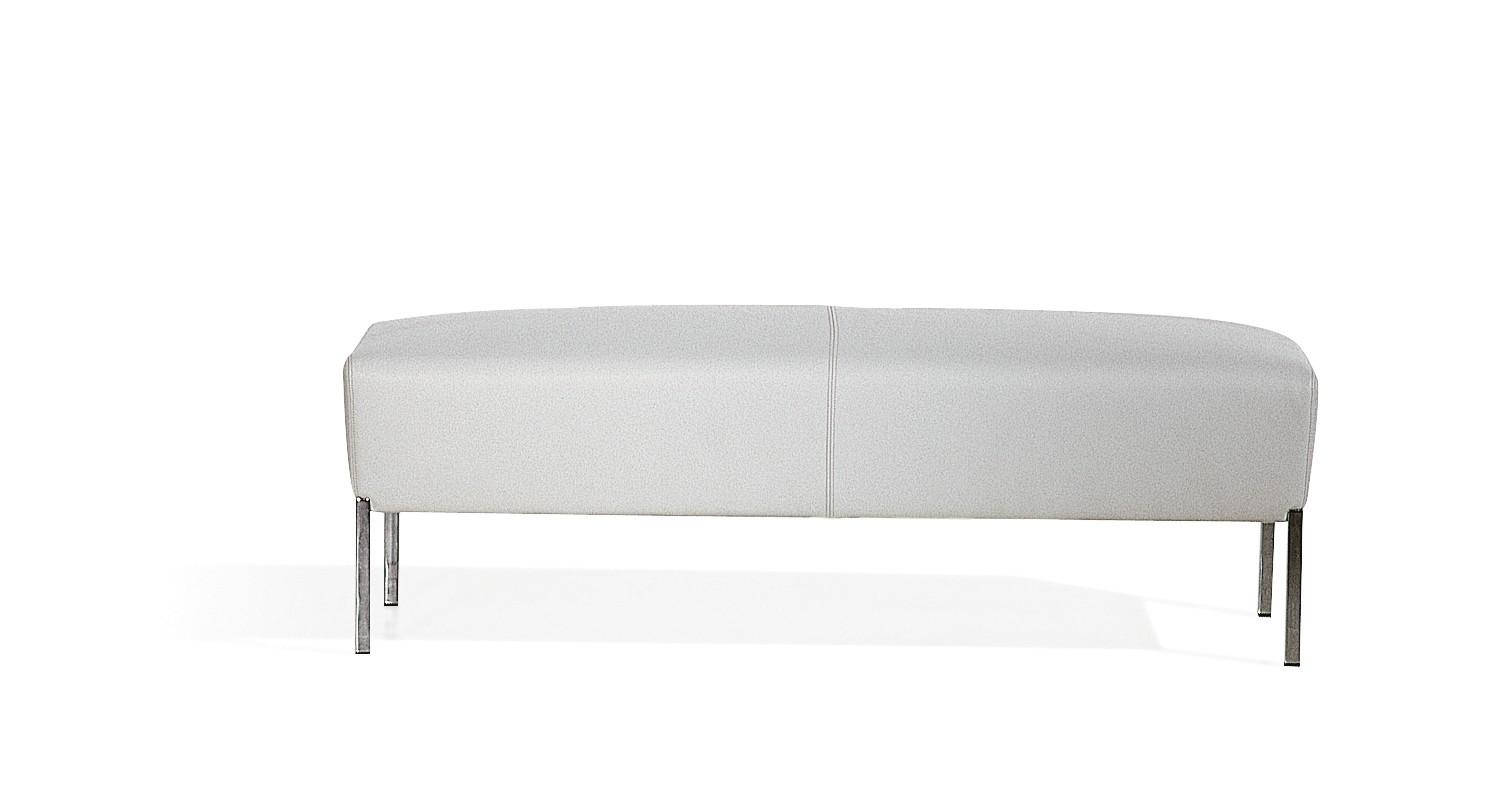 Steel Rectangular Footstool A4500 - Art.48045 - 206 beige, Oxidored Base
