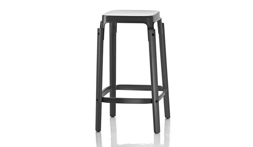 Steelwood Bar Stool Black, 78cm