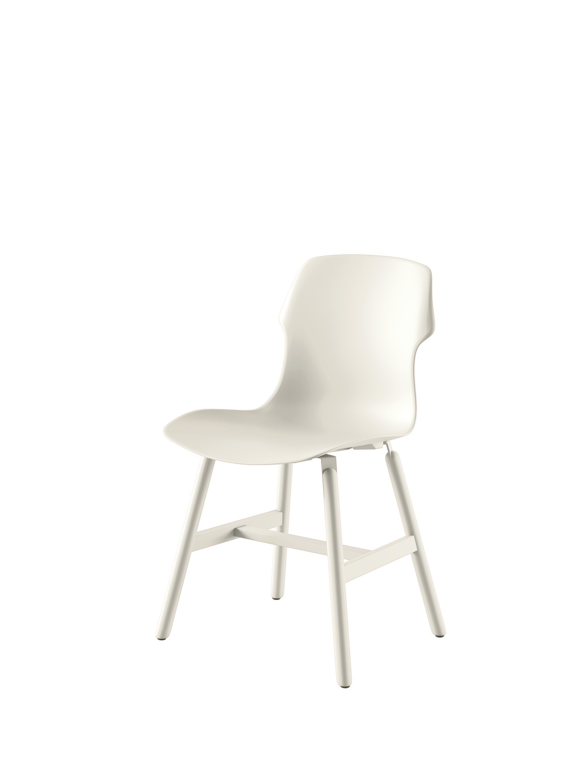 Stereo Metal Chair - Set of 2 Ivory White