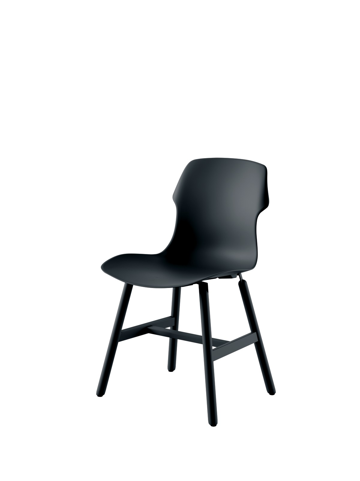 Stereo Metal Chair - Set of 2 Black