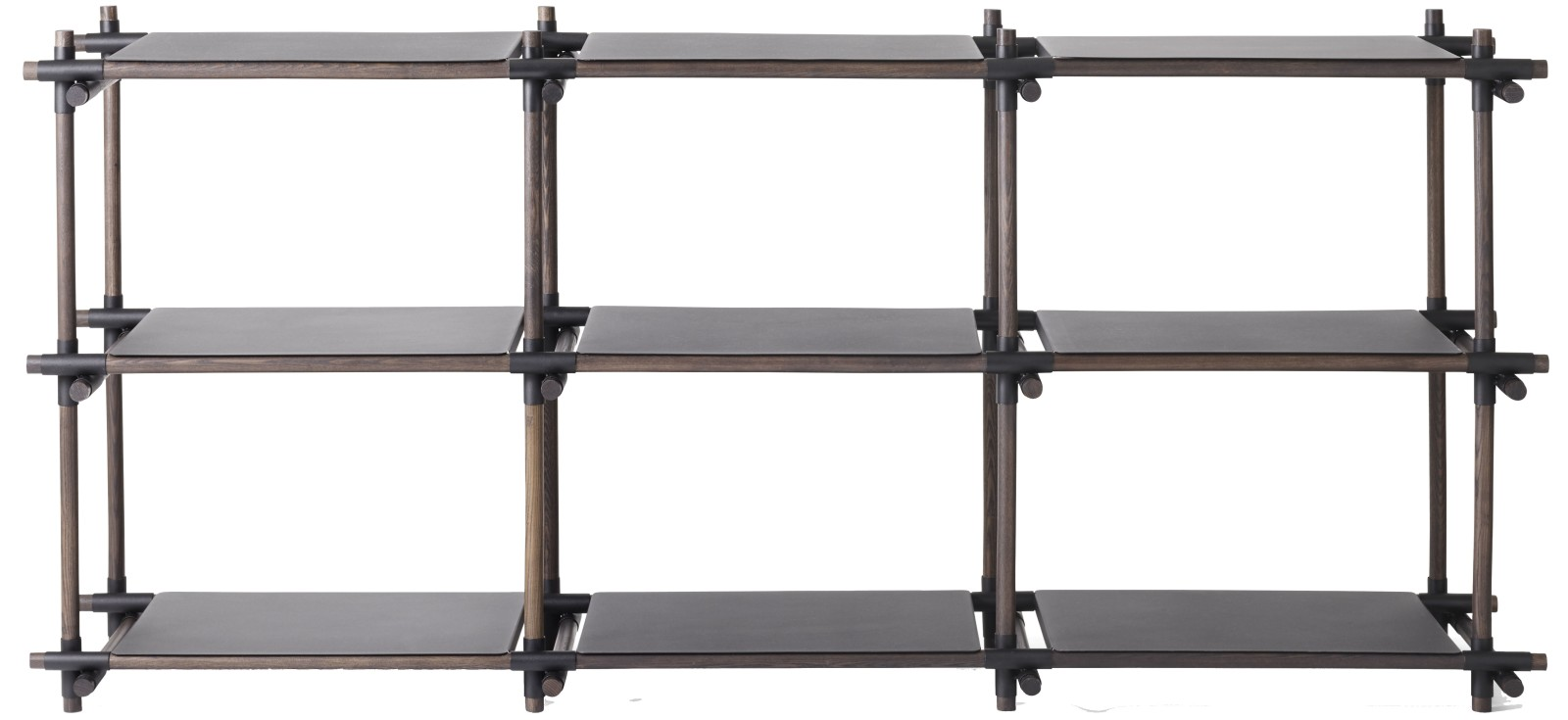 Stick System Shelving, 3x3 Black