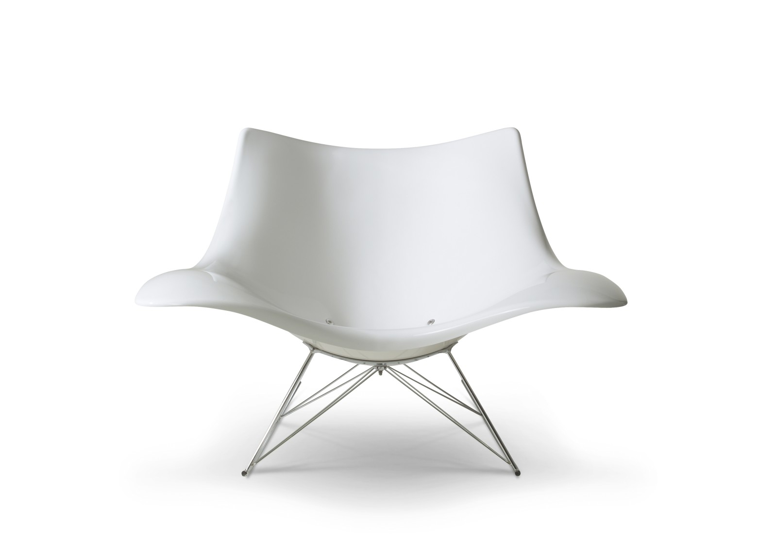 Stingray rocking chair White, Stainless steel