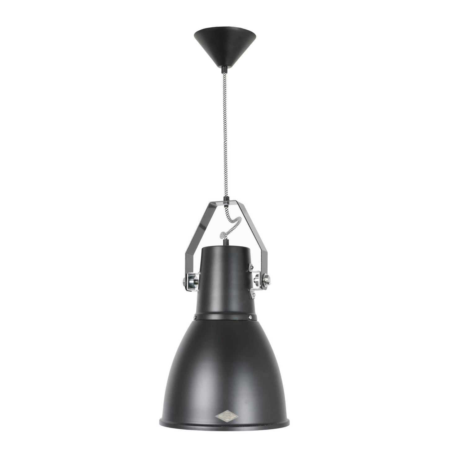 Stirrup Pendant Light Black, Large