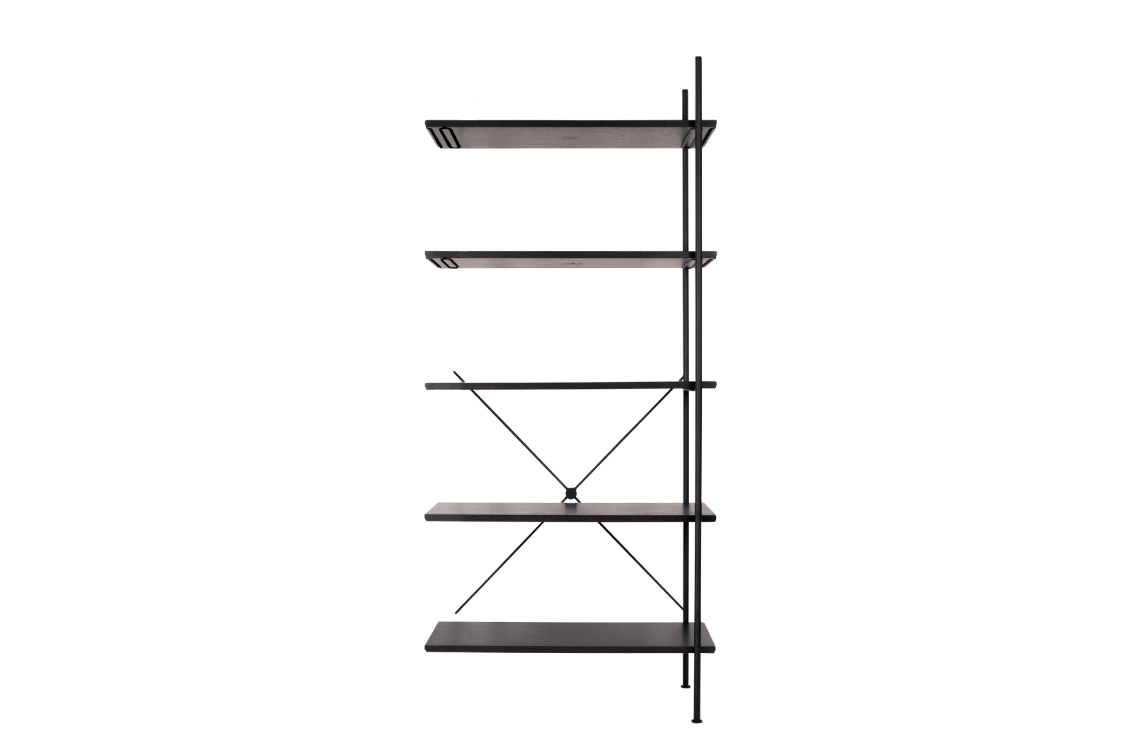 Stock High Add-on Shelving Jet Black