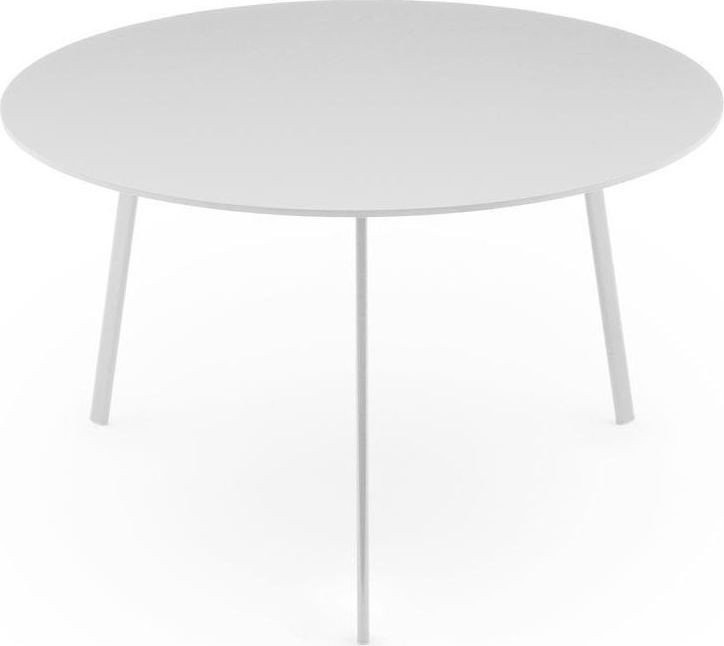 Striped Dining Table - Round White Frame and Top, 0120