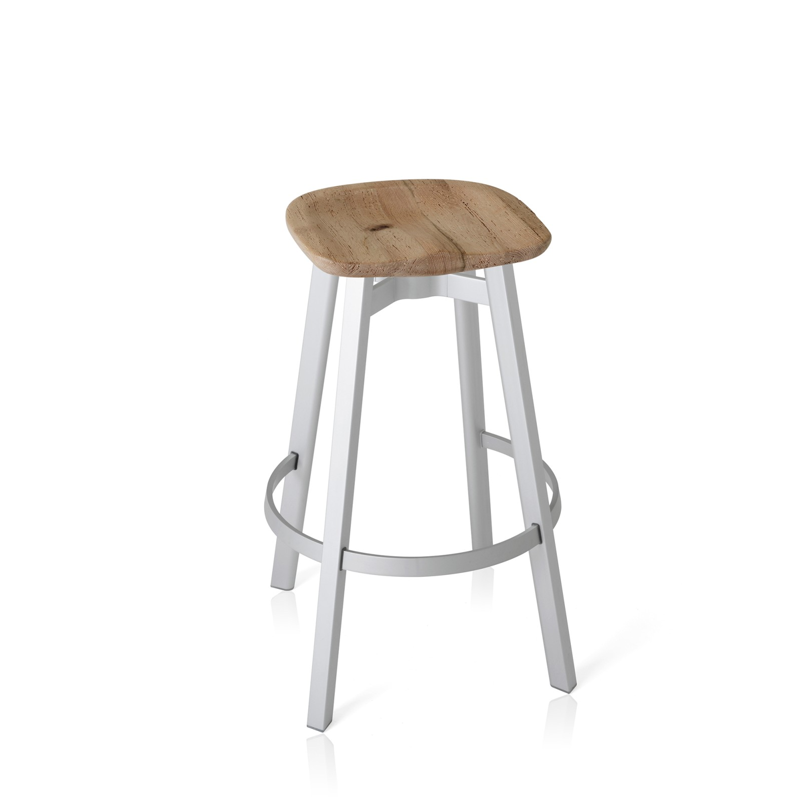 Su Bar Stool Aluminium, Oak