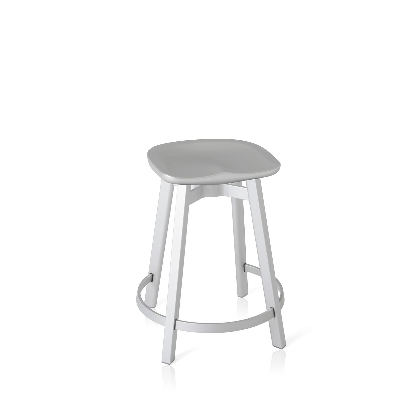 Su Counter Stool Aluminium, Concrete