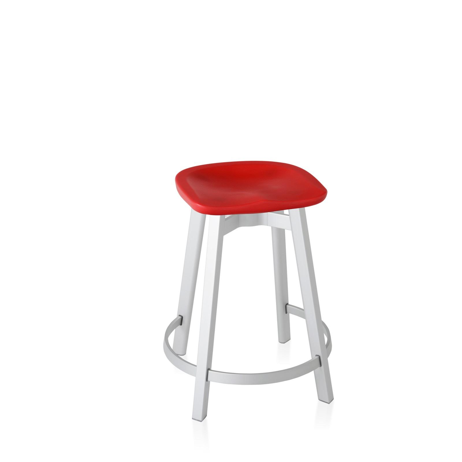 Su Counter Stool Aluminium, Red