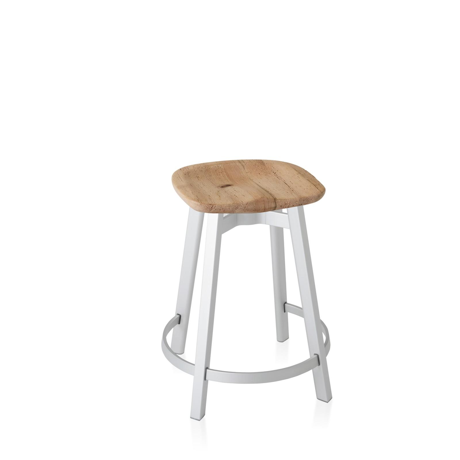 Su Counter Stool Aluminium, Oak