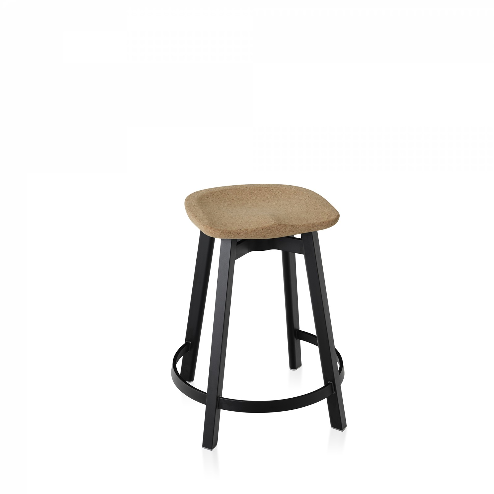 Su Counter Stool Black Aluminium, Cork