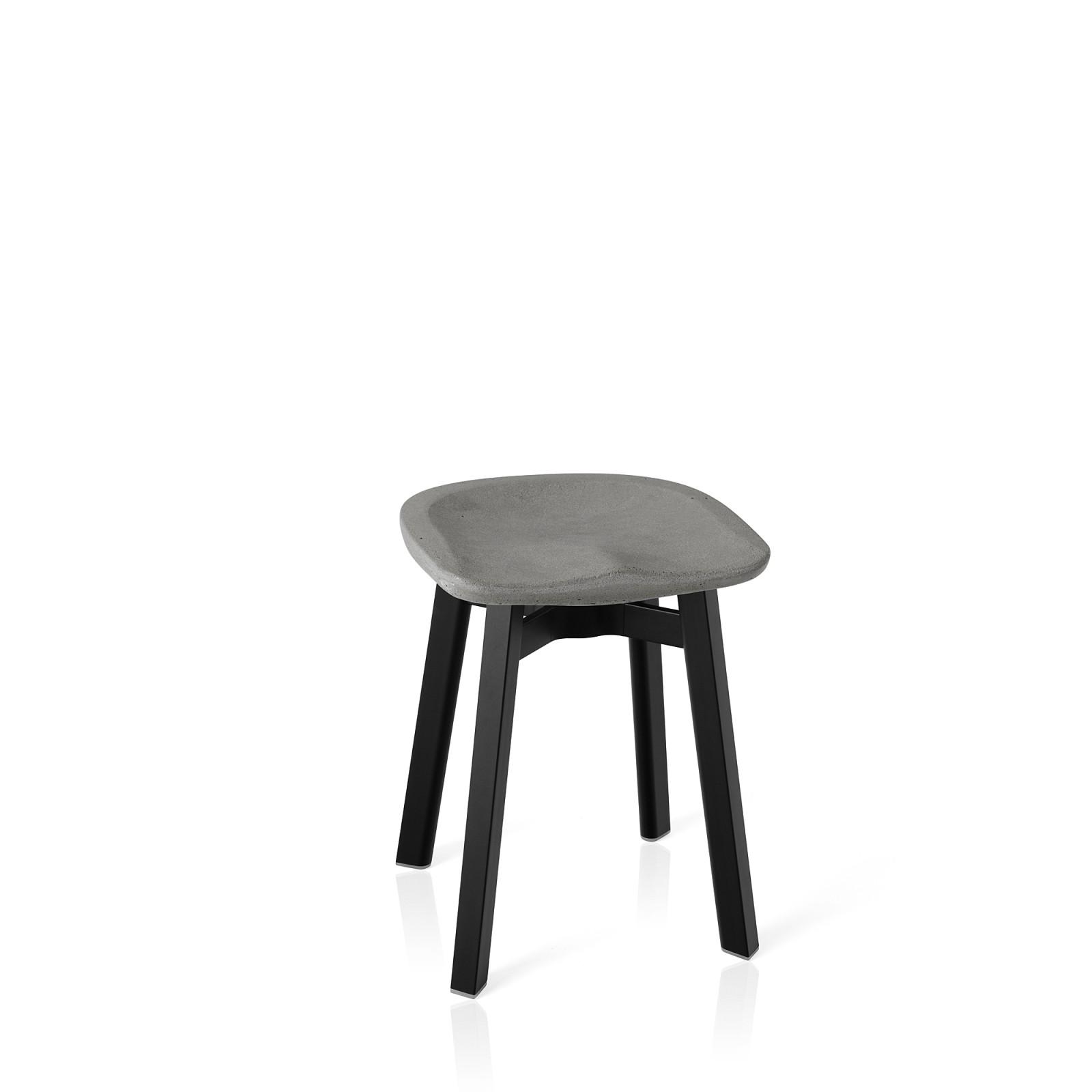 Su Stool Black Aluminium, Concrete