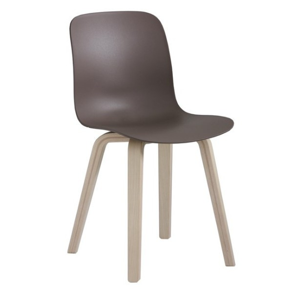 Substance Dining Chair - Set of 2 Natural Frame, Beige Grey Seat, Ash Plywood