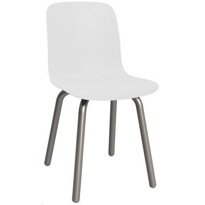 Substance Dining Chair - Set of 2 Natural Frame, White Seat, Anodised Aluminium Tube