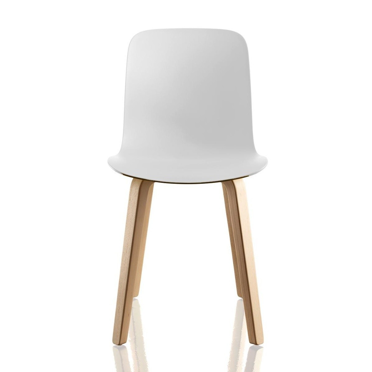 Substance Dining Chair - Set of 2 Natural Frame, White Seat, Ash Plywood