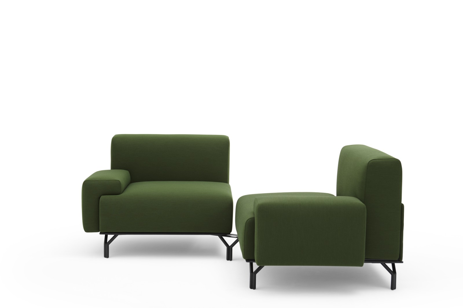 Summit Jointed Removable 2 Seat Sofa A2590 - Extrema/AU 1550 green