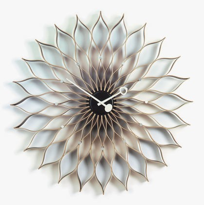 Sunflower Clock birch