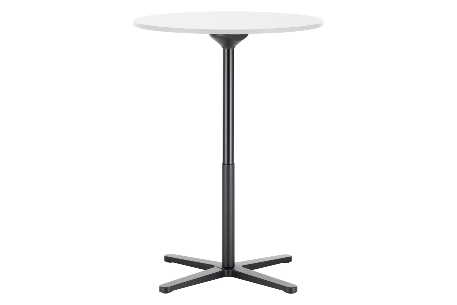 Super Fold Round Stand-up Table White melamine