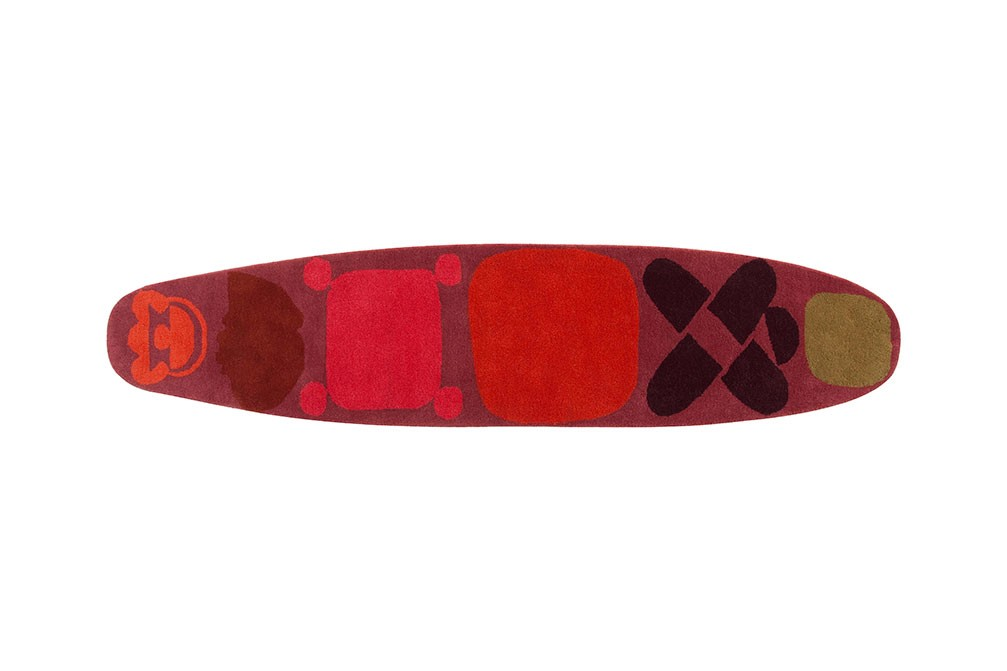 Surf Race Rug Red