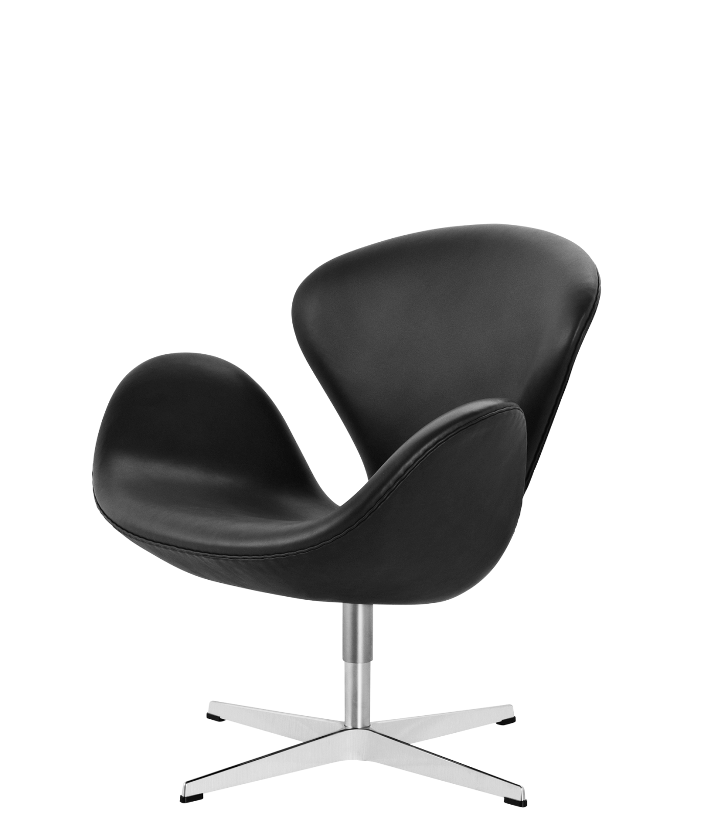 Swan Easy Chair Basic Leather Black