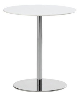 T1 Cafe Round Table white painted metal / White HPL