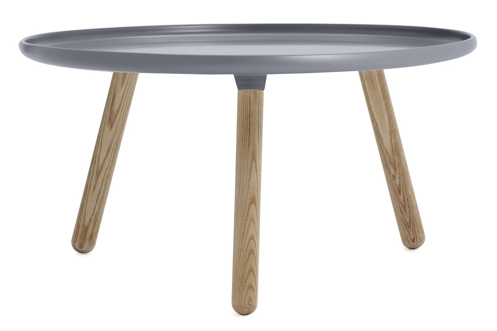 Tablo Round Coffee Table Grey Top, Natural Ash Legs, Large